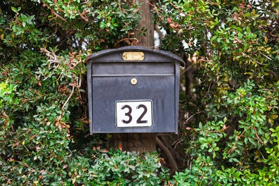 Grey mail box
