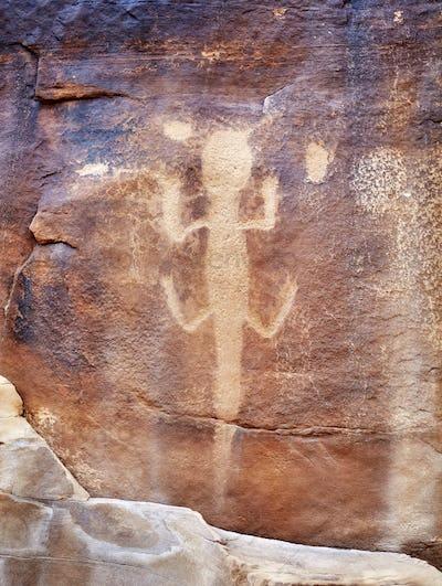 Lizard petroglyph in Dinosaur National Monument, Utah, USA