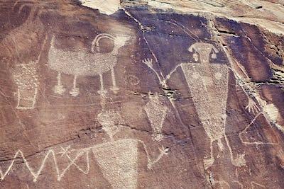 Petroglyphs in Dinosaur National Monument, Utah, USA