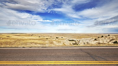 Photo of an empty road, travel concept background.