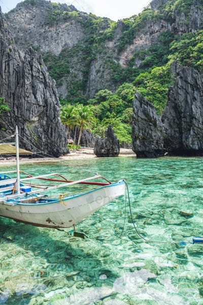 Beautiful tropical scenery in El Nido, Palawan, Philippines