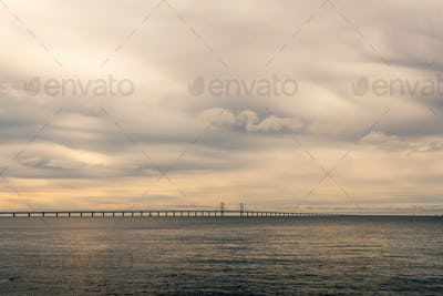 Rocks, sea and Oresund bridge