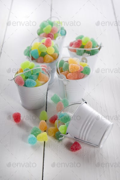 Multicolored soft candies