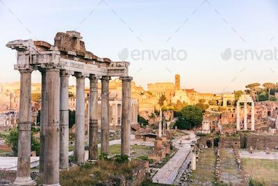 Temple of Saturn in Roman Forum - Rome