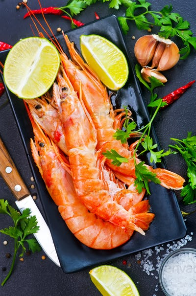 boiled shrimps