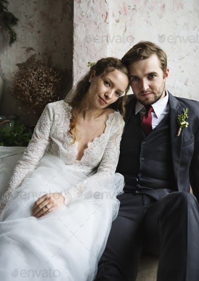 Bride and Groom Together Love Happiness Wedding Marriage