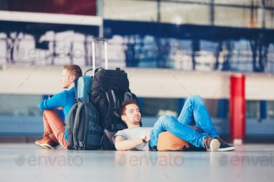 Travelers waiting for departure