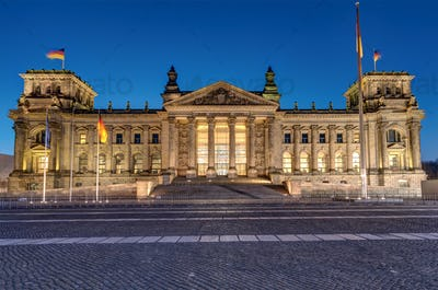 The famous Reichstag in Berlin