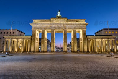 The back of the Brandenburger Tor in Berlin