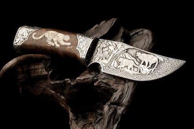 Ornamental hunting knife.