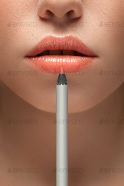 In a pencil to beauty.