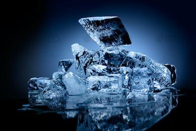 Ice pieces.