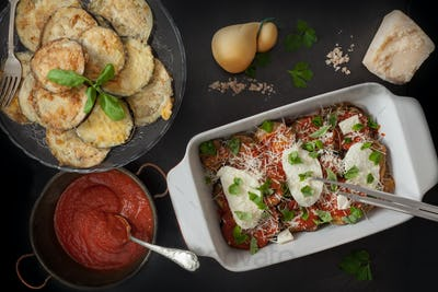 Ingredients For Parmigiana In Baking Pan