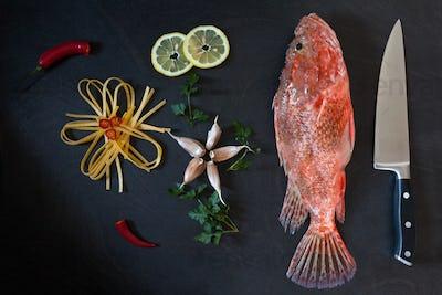 Ingredients Pasta Scorpionfish