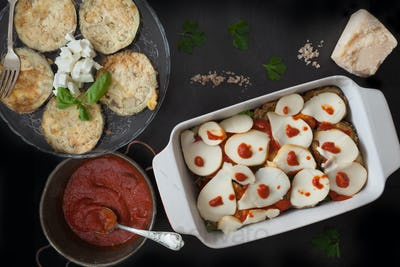Scamorza Cheese Layer In Parmigiana Recipe