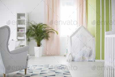 Spacious baby room