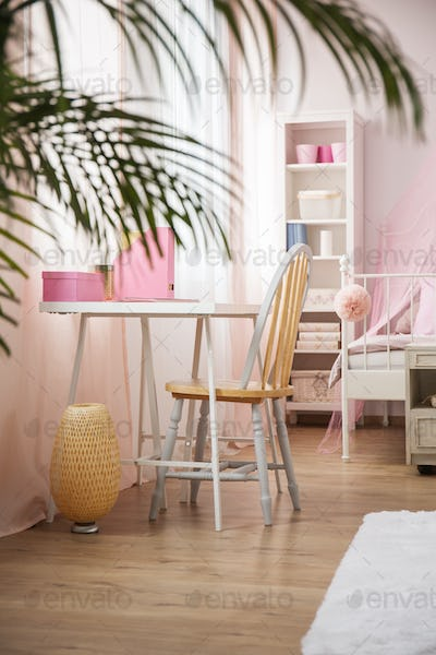 Girl room with desk