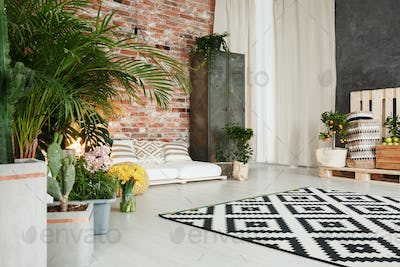 Room with plant decor