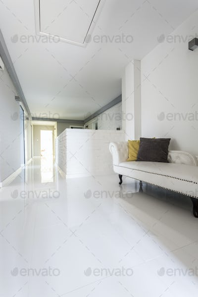Corridor in a modern luxurious house