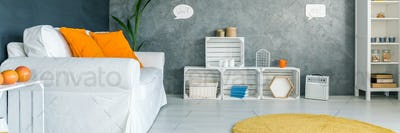 Minimalistically designed room