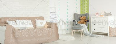 Baby room in scandi style