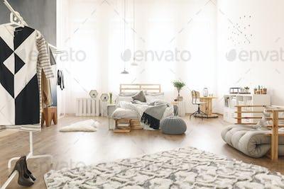 Studio apartment with diy accessories