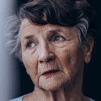 Despair old woman