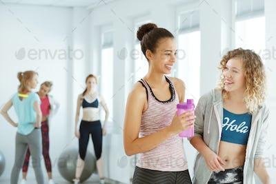 Girls after workout
