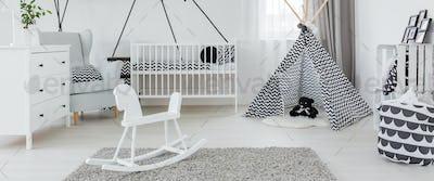 Spacious bright baby room