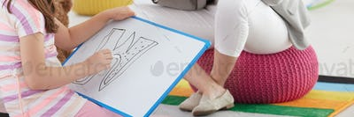 Drawing difficult letter