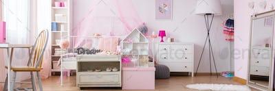Dreamy bedroom of little girl