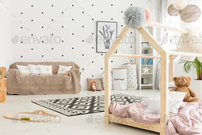 Multifunctional white child room