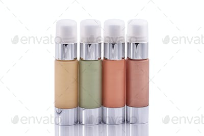 Cosmetic bottle isolated over white background