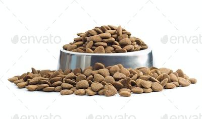 Dry kibble dog food.