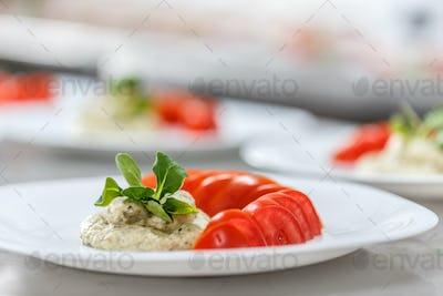 Tasty eggplant salad