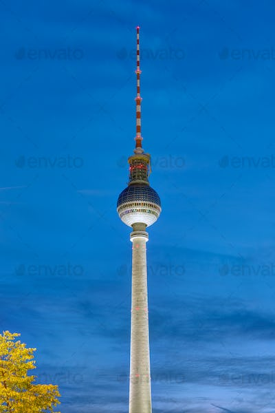 The famous Television Tower in Berlin
