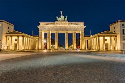The Brandenburg Gate in Berlin at darkness