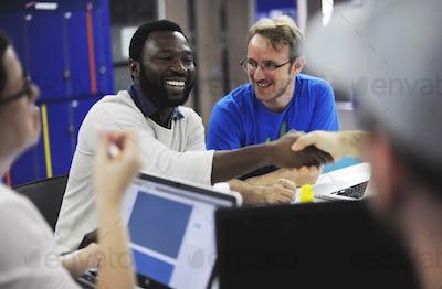 Startup Business People Teamwork Cooperation Workshop