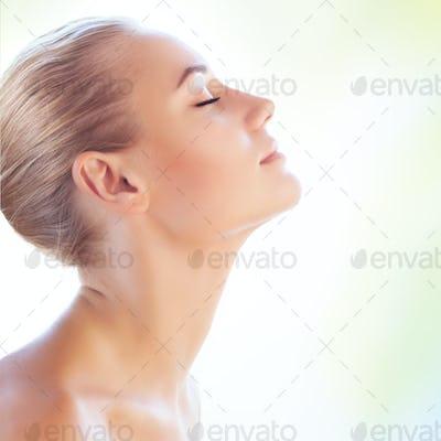Gentle woman portrait