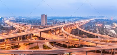 panoramic view of city interchange