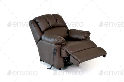 Brown Reclining Leather Chair
