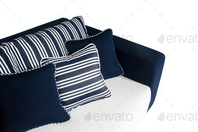 Sofa for Outdoor and Indoor in Blue and White Color