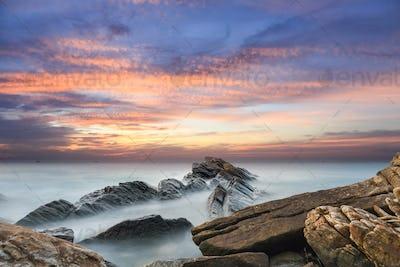 beautiful seascape in sunset