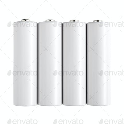Batteries isolated on white background