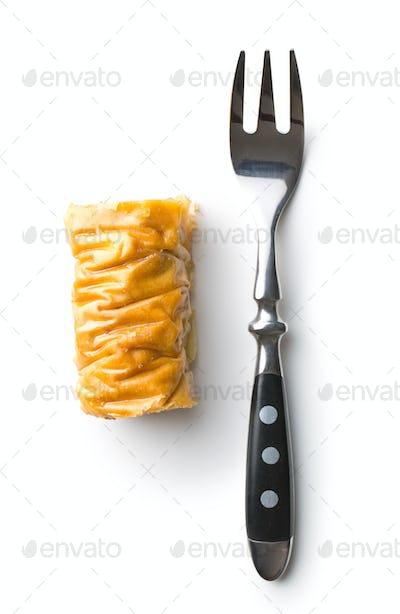 Sweet dessert baklava.