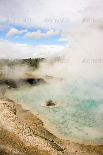 Mineral Pool Geothermal Spring Yellowstone National Park Wyoming