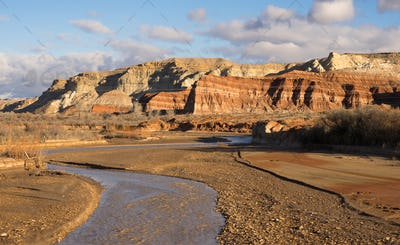 Grand Staircase-Escalante Southern Utah Rolling Clouds Pahreah River