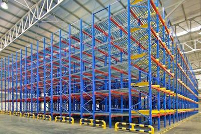 Warehouse storage shelving racking systems