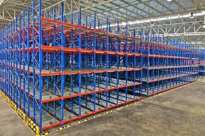 Warehouse  shelving storage Inside of metal pallet racking system