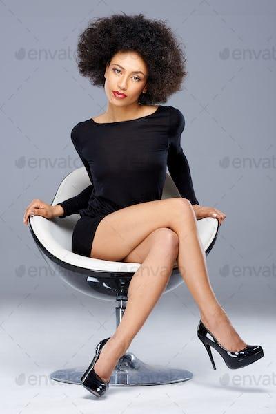 Elegant beautiful African American woman